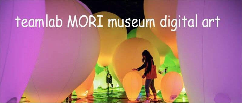 foto teamlab MORI museum in Giappone