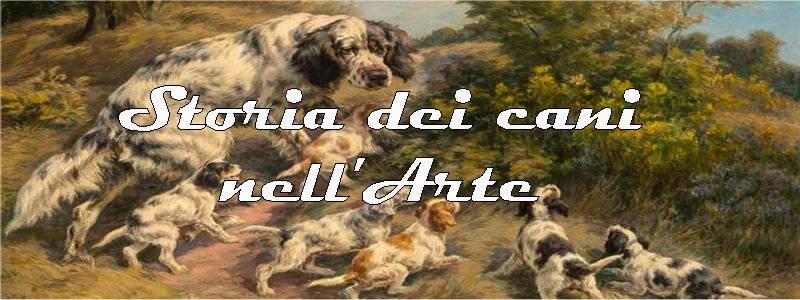 storia dei cani rappresentati in arte
