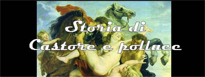 storia di castore e polluce in arte