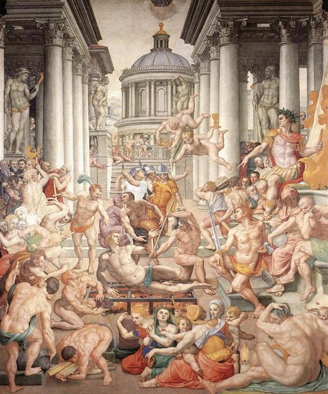 Opera del Bronzino: il Martirio di San Lorenzo