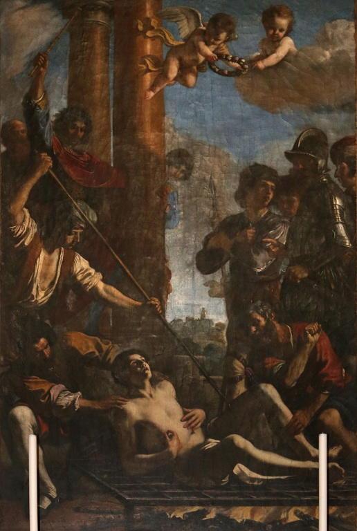 Martirio di San Lorenzo opera del Guercino