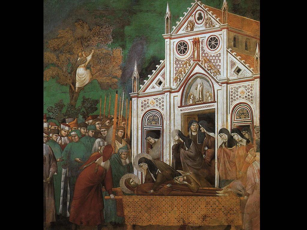 Saluto di Santa Chiara - Giotto
