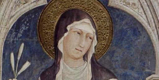 Santa Chiara opera di Simone Martini