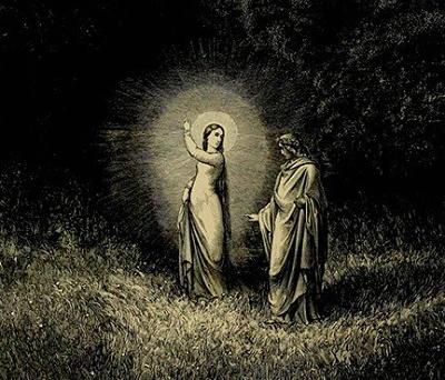 Santa Lucia e Dante Alighieri