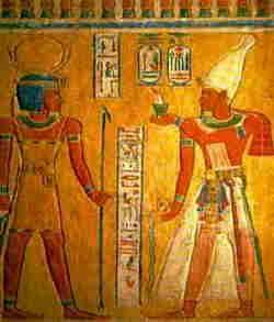 Faraone davanti al dio Shepes