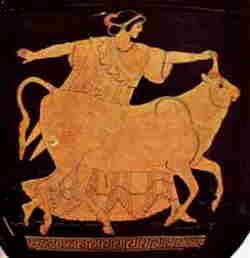 Vaso greco a figure rosse, dettaglio, 490 a.C.