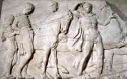 Fregio in marmo del Partenone