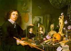 Autoritratto con Vanitas di David Bailly 1651