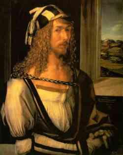 Autoritratto con panorama di Albrecht Dà¼rer del 1498