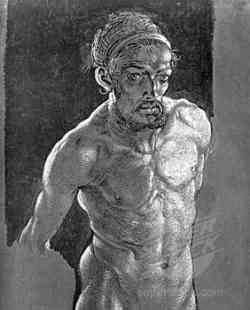 Particolare di Autoritratto di Albrecht Dà¼rer del 1500 -1505