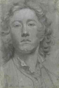 Autoritratto di Sir Joshua Reynolds da giovane 1753-58