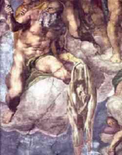 Michelangelo - Particolare del Giudizio Universale