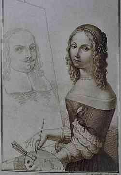 Autoritratto di Elisabetta Sirani
