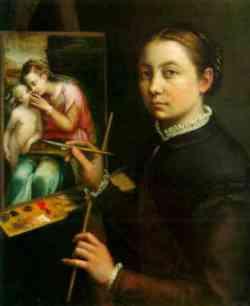 Sofonisba Anguissola - Autoritratto 1556