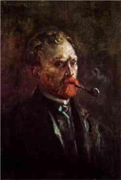 Vincent van Gogh - Autoritratto con pipa 1886