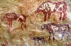 Graffito con cane della preistoria