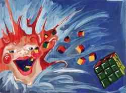 Vomitando Cubi di Rubik di Kimberly Hermesch