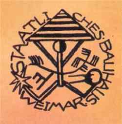 Corrente scuola Bauhaus - Stemma Scuola  1919
