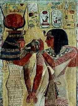 Pittura egizia, esempio di cubismo