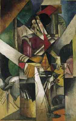 Movimento Dada -Albert Gleizers - Donna con animali, 1914