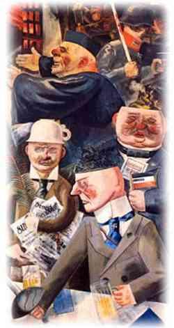 Movimento Dada -George Grosz, I pilastri della società (1926)
