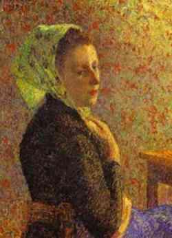 Puntinismo Donna con scialle Camille Pissarro.jpg