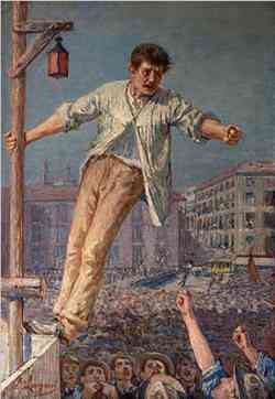 Divisionismo Emilio Longoni - Oratore allo sciopero