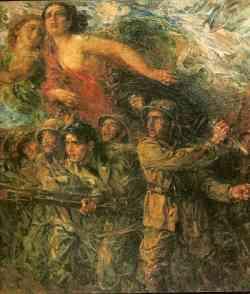 Divisionismo - In Libia 1915 - Plinio Nomellini