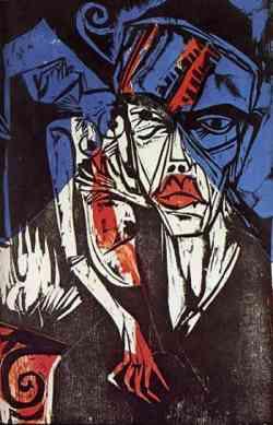 Corrente Espressionista -Ernst Kirchner - Combats 1915