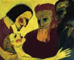 Emil Nolde (Emil Hansen) - Christus und die Sà¼nderin), 1926