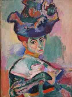 Corrente dei Fauves - Hanri Matisse - Femme au chapeau  1905