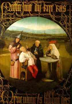 Corrente Fiamminga Bosch estrazione pietra della pazzia 1480
