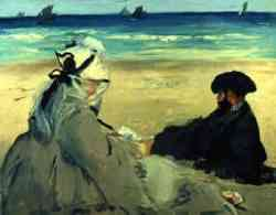 Edouard Manet - On the Beach 1873 quadro impressionismo