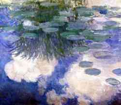 "impressionismo di Claude Monet Water Lilies (The Clouds)"" 1903 particolare"