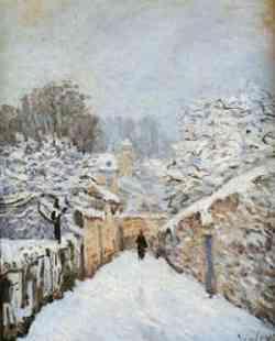 impressionismo di Alfred Sisley- Neve a Louveciennes 1878