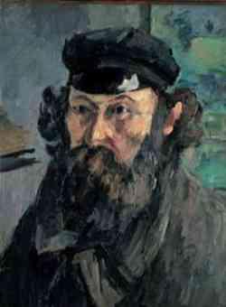 impressionismo di Paul Cézanne - Autoritratto con berretto, 1873-75