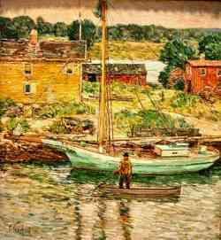 Childe Hassam- Oyster Sloop
