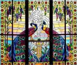 Liberty o stile floreale - vetrata a palermo