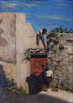 Pittura Macchiaioli - Raffaello Sernesi