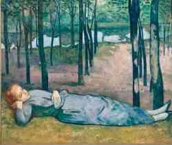 Simbolismo - Emile Bernard - Maddalena nel bosco dell'amore