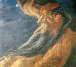 Simbolismo  - Gaetano Previati - Paolo e Francesca
