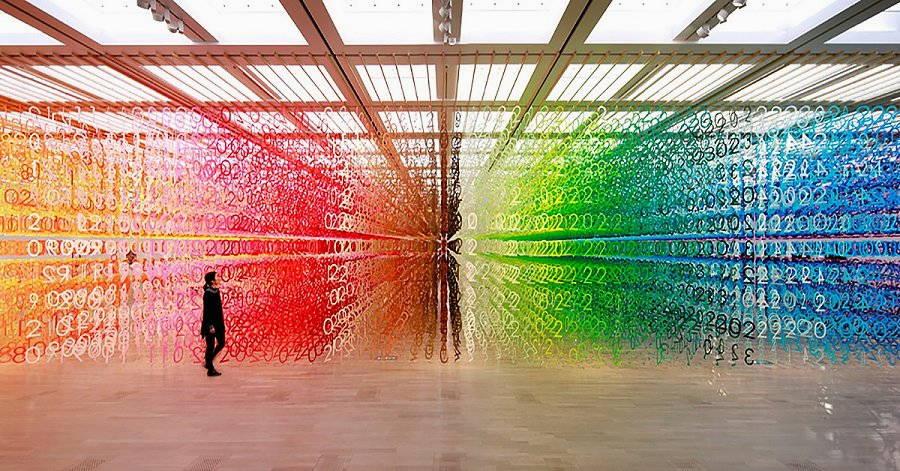installazione artistica di emmanuelle moureaux forest of numbers