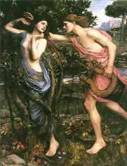 Apollo e Dafne - quadro di Waterhouse