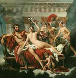 Jaques-Louis David_Marte disarmato da Venere