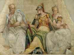 Minerva fra la Geometria e l'Aritmetica, affresco di Paolo Veronese