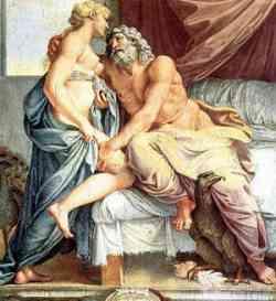 Storia del Giudizio di Paride Giove e Giunone (Era) del Carracci