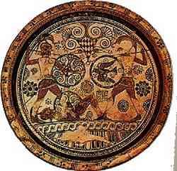 Storia del Giudizio di Paride La Guerra di Troia - ceramica