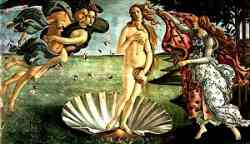 Storia del Giudizio di Paride Nascita di Venere del Botticelli