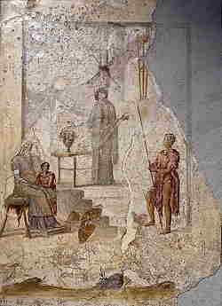 Storia del Giudizio di Paride Affresco con la profetessa Cassandra