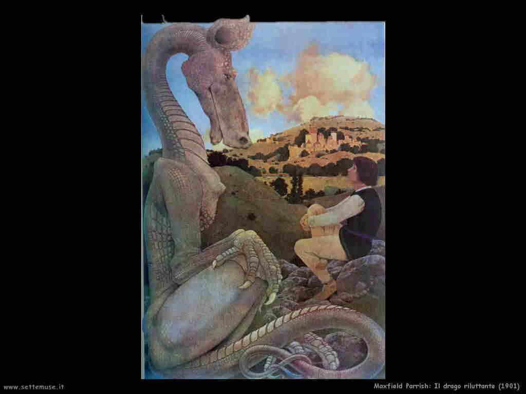 maxfield_parrish il_drago_riluttante 1901